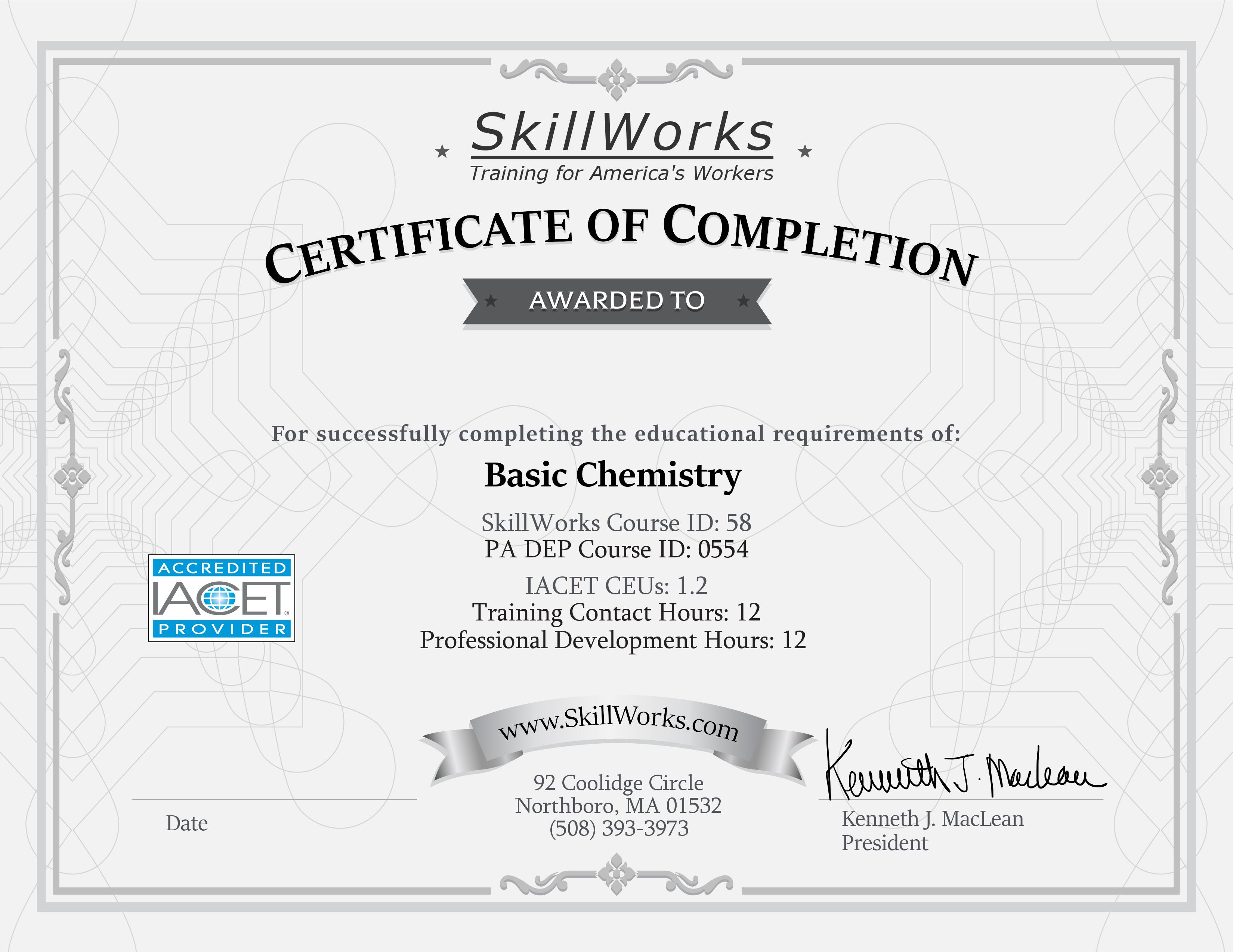 Basic Chemistry (PA)