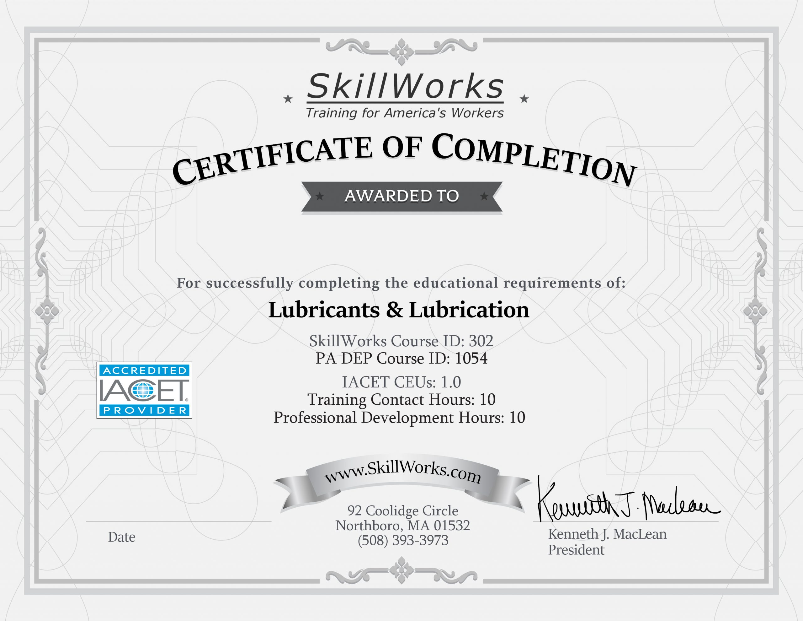 Lubricants & Lubrication (PA)