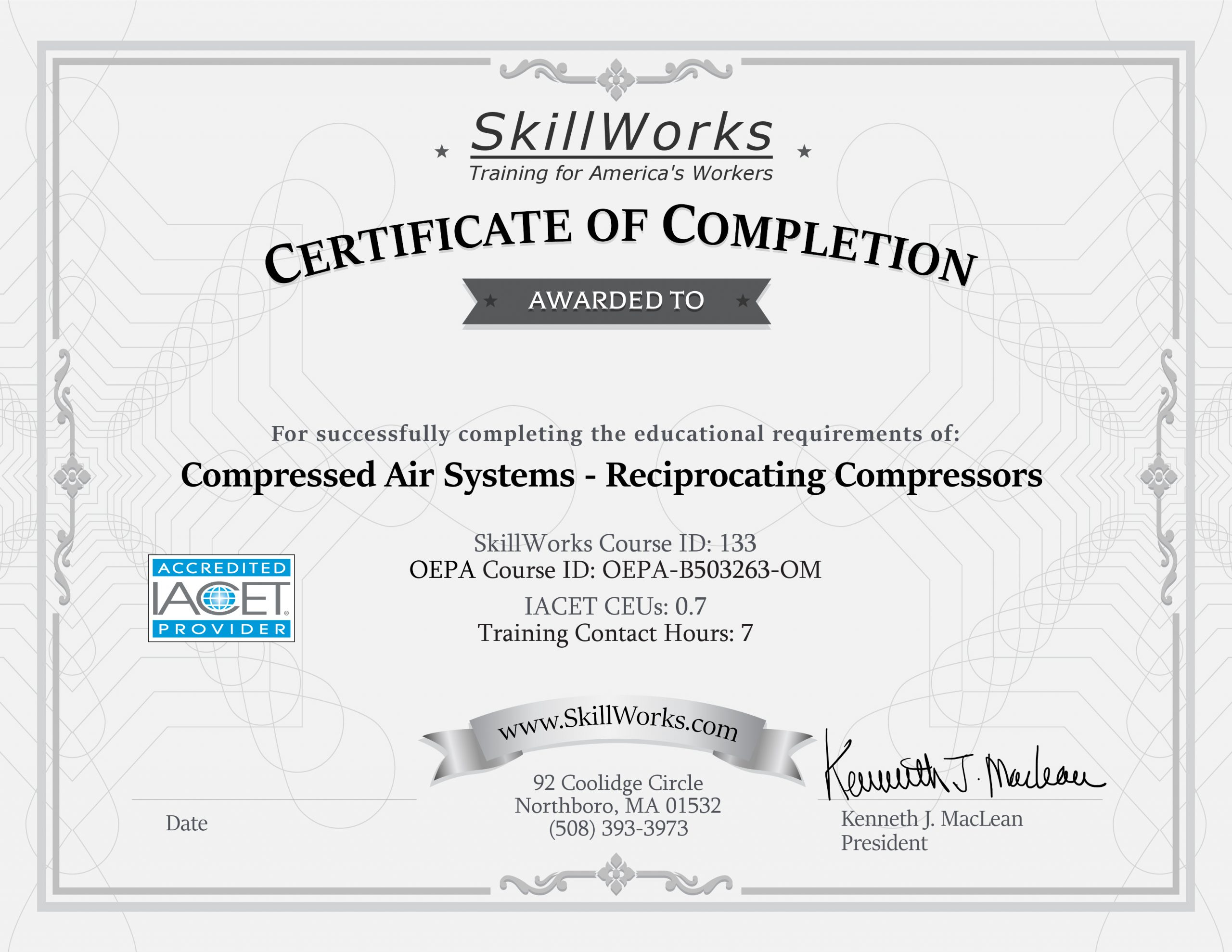 Compressed Air Systems: Reciprocating Compressors (OH)